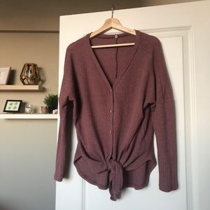 Button front thermal Henley